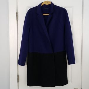 DVF Wool Cardigan Coat Purple Sz 8